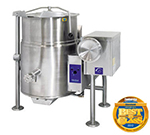 Cleveland KGL-25-T LP 25-Gallon Tilting Kettle w/ Electronic Ignition, 2/3 Steam Jacket, LP