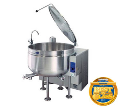 Cleveland KGL-60-SH NG 60-Gal Full Steam Jacketed Kettle w/ Solid-State Temperature Controls, NG