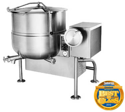 Cleveland KGL-40-T LP 40-Gallon Tilting Kettle w/ Electronic Ignition, 2/3 Steam Jacket, LP