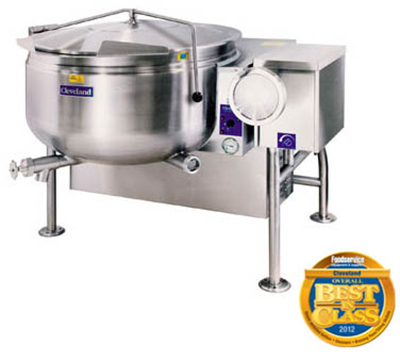 Cleveland KGL-40-TSH NG 40-Gallon Short Series Full Steam Jacketed Kettle w/ Tilting, NG