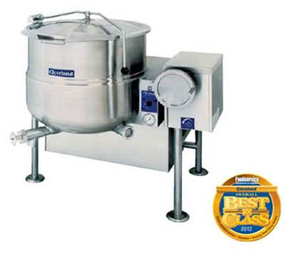 Cleveland KGL-80-T LP 80-Gallon Tilting Kettle w/ Electronic Spark, 2/3 Steam Jacket, LP
