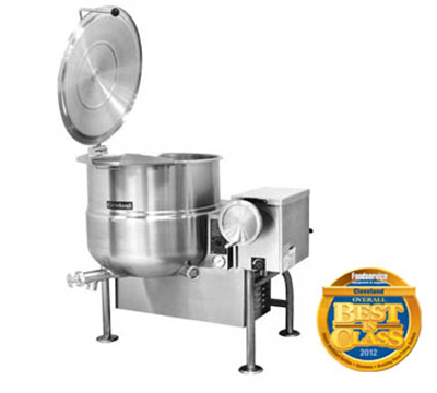 Cleveland KGL-60-T LP 60-Gallon Tilting Kettle w/ Electronic Spark, 2/3 Steam Jacket, LP