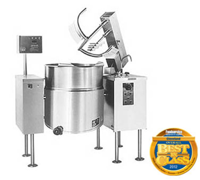 Cleveland MKEL-100-T 2403 100-Gallon Tilt Kettle Mixer w/ Sweet Fold Agitator, 2/3 Steam Jacket, 240 V