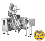Cleveland MKGL-80-T NG 80-Gal Tilt Kettle Mixer w/ Solid-State Temperature Control, NG