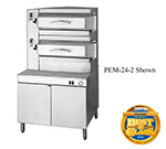 "Cleveland PEM242 2-Compartment Pressure Steamer w/ 36"" Cabinet Base, Manual, 208/3v"