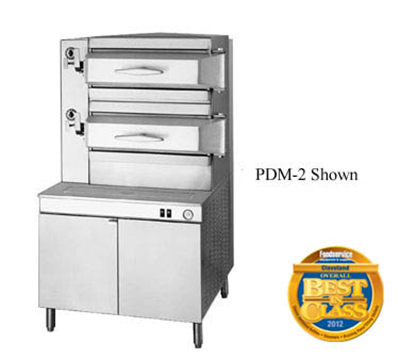 Cleveland PGM3002 LP 2-Compartment Pressure Steamer w/ 36-in Cabinet, Manual, LP
