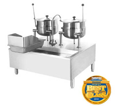 Cleveland SD1600K1212 Direct Steam Kettle Cabinet Assembly w/ (2) 12-Gal Kettle