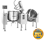 Cleveland TMKDL-100-T 2083 Twin 100-Gallon Tilt Kettle Mixer w/ Variable Speed, Open Leg, 208/3 V