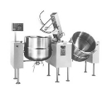 Cleveland TMKEL-80-T 2403 Twin 80-Gal Tilt Kettle Mixer w/ Variable Speed, Open Leg Base, 240/3 V