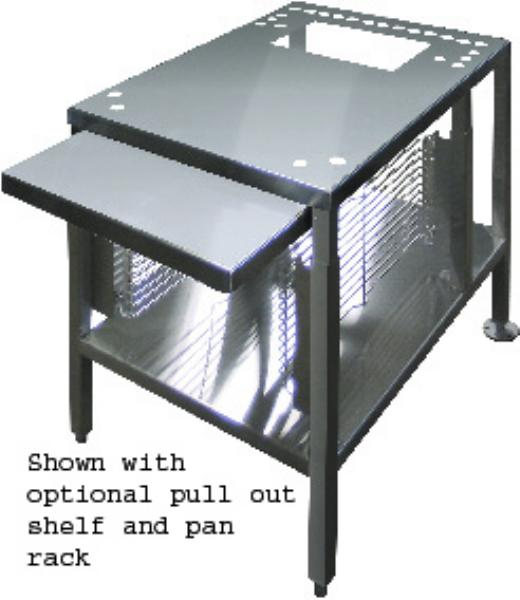 "Cleveland UNISTAND25 22"" x 28"" Stationary Equipment Stand for Countertop Steamers, Undershelf"