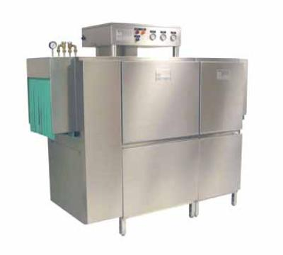 "Meiko K66E208 44"" Single Tank Rack Conveyor Dishwasher, 239-Racks/Hr, 18"" Clear, 208/3"