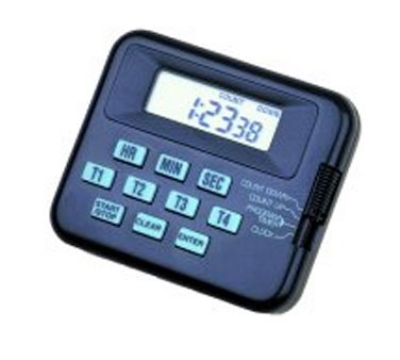 Comark 206 Digital Pocket Timer w/ 4-Programmable Channels & Battery