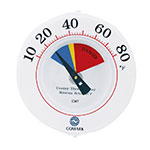 "Comark CWT 6"" Cooler Wall Thermometer w/ Mounting Bracket"