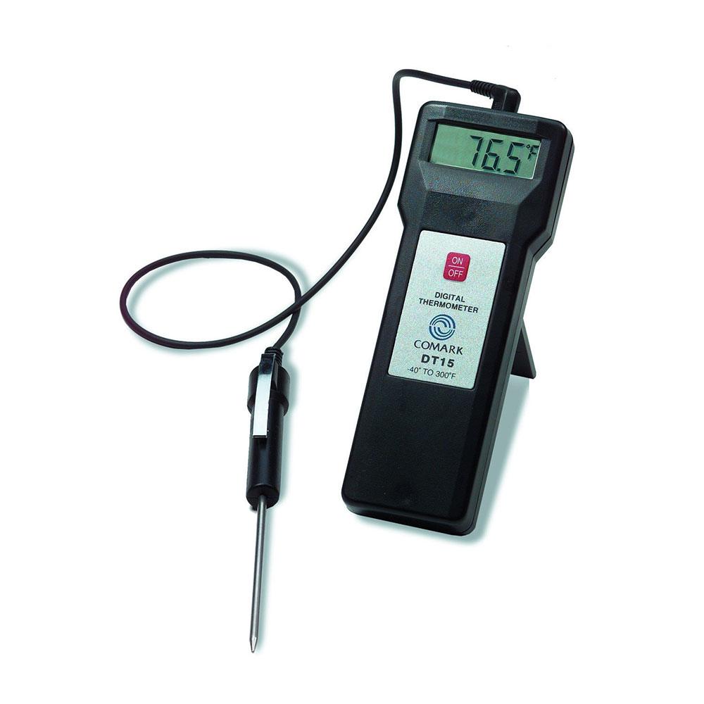 Comark DT15 Hand Held Digital Temperature Tester, Plus/Minus 1-Degree F