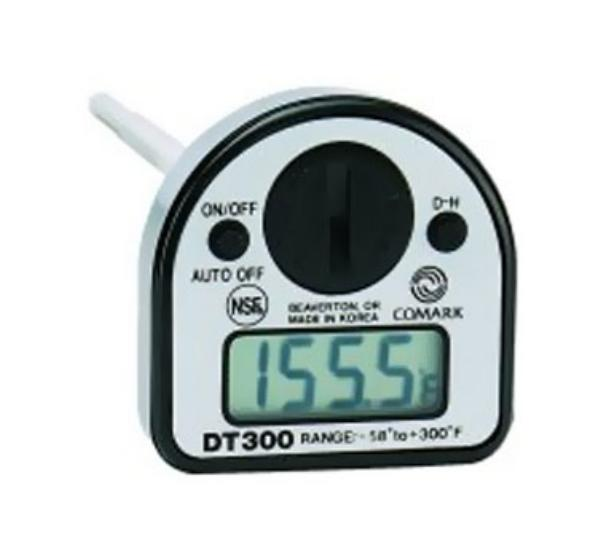 Comark DT300NSF Pocket Thermometer, Digital, Data Hold Button, -58 to 300