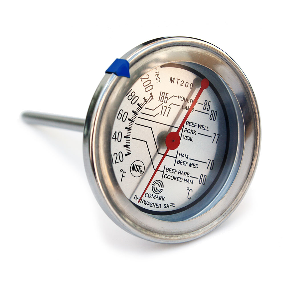Comark MT200K Meat Thermometer, 2-3/4in Dial, 120 to 200 F