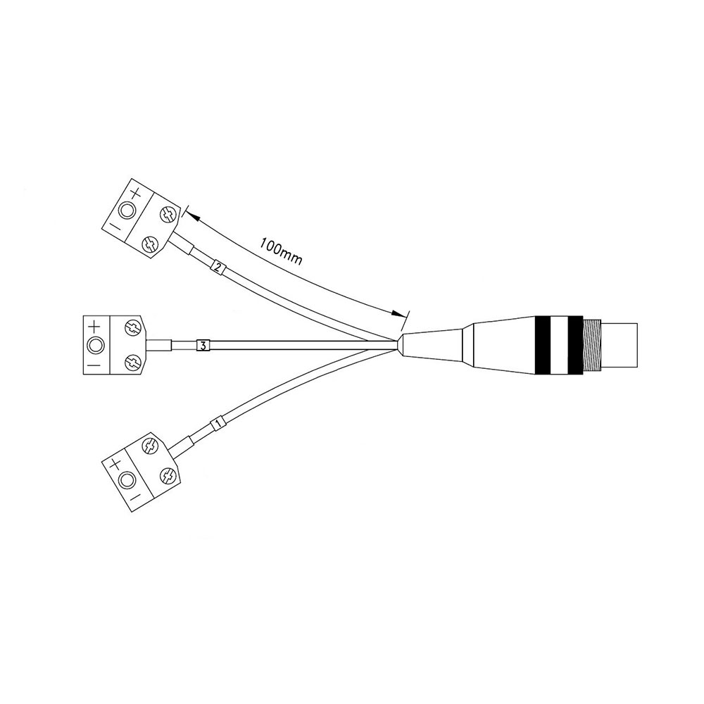 Comark N2000ADP/K Adapter Cable To Connect Type K Probes