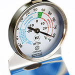 Comark RFT2AK Refrigerator Freezer Thermometer, Dial, Temp. Range -20 to 80 F, SS