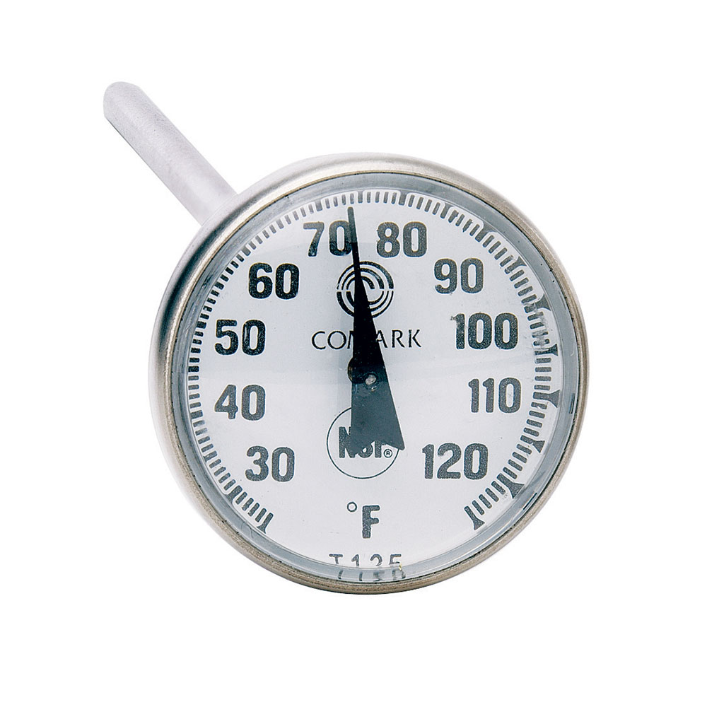 """Comark T125 Pocket Thermometer w/ 1"""" Dial & 5"""" Stem, 25 To 125-Degrees F"""