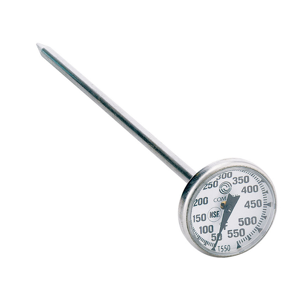 "Comark T550AK Pocket Thermometer w/ 8"" Stem & 1"" Dial, 50 To 550-Degrees F"