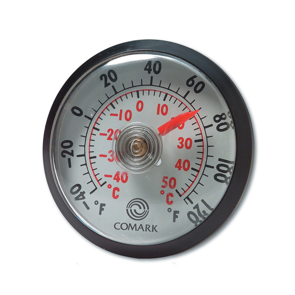 """Comark UTL140 2"""" Dial Indoor Outdoor Thermometer w/ Adhesive or Magnet Mount"""