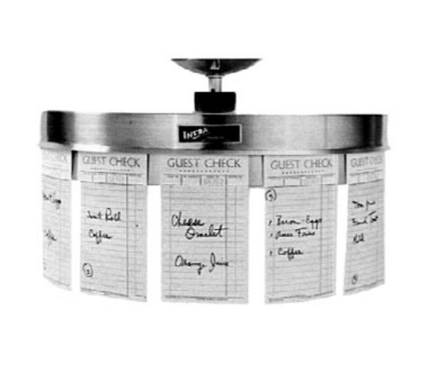 Infra RCM520L Rotating Check Minder, Ceiling Hung, 16 in dia. Drum, 17 in Drop Stem