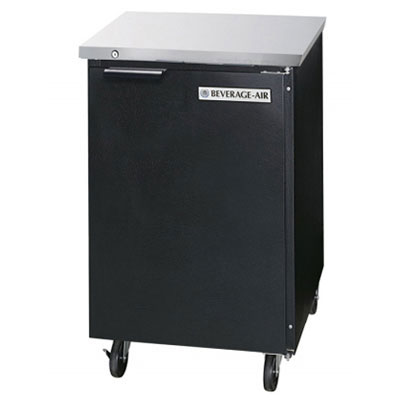 "Beverage Air BB24F-1-S 24"" (1) Section Bar Refrigerator - Swinging Solid Door, 115v"