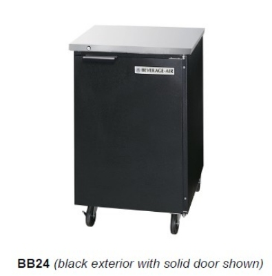Beverage-Air BB24G-1-S 24 (1) Section Bar Refrigerator - ...