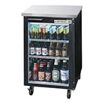 "Beverage Air BB24HC-1-G-B 24"" (1) Section Bar Refrigerator - Swinging Glass Door, 115v"