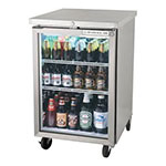 "Beverage Air BB24HC-1-G-S 24"" (1) Section Bar Refrigerator - Swinging Glass Door, 115v"