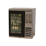"Beverage Air BB36G-1-S-27 36"" (1) Section Bar Refrigerator - Swinging Glass Door, 115v"