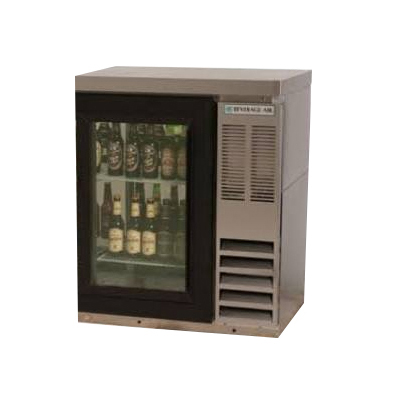 Beverage-Air BB36G-1-S-27 36 (1) Section Bar Refrigerator...