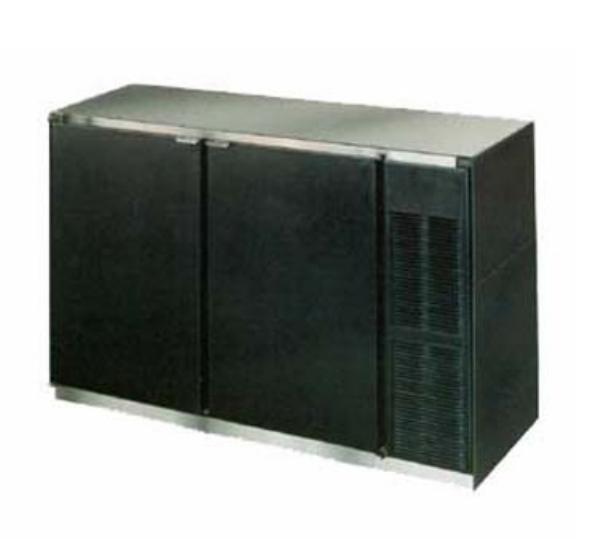 Beverage Air BB48-1-B 48 in Refrigerated Backbar Storage Cabinet 2 Door Black Galvanized Steel Top Restaurant Supply