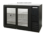 "Beverage Air BB48GSYF-1-S 48"" (2) Section Bar Refrigerator - Sliding Glass Doors, 115v"