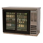 "Beverage Air BB48GSY-1-S-PT 48"" (2) Section Bar Refrigerator - Sliding Glass Doors, 115v"