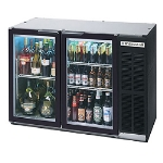 "Beverage Air BB48GY-1-B-27 48"" (2) Section Bar Refrigerator - Swinging Glass Doors, 115v"