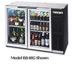 "Beverage Air BB48RG-1-B-27 48"" (2) Section Bar Refrigerator - Swinging Glass Doors, 115v"