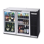 "Beverage Air BB48GYF-1-S 48"" (2) Section Bar Refrigerator - Swinging Glass Doors, 115v"
