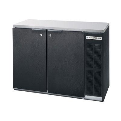 Beverage Air BB48Y-1-B-27 48  (2) Section Bar Refrigerator - Swinging Solid Doors 115v  sc 1 st  KaTom Restaurant Supply & Beverage Air BB48Y-1-B-27 48