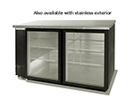 "Beverage Air BB58GF-1-B 58"" (2) Section Bar Refrigerator - Swinging Glass Doors, 115v"
