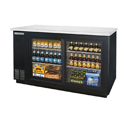 "Beverage Air BB58GSF-1-B 58"" (2) Section Bar Refrigerator - Sliding Glass Doors, 115v"