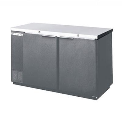 "Beverage Air BB68-1-S 68"" (2) Section Bar Refrigerator - Swinging Solid Doors, 115v"