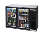 "Beverage Air BB72GY-1-S-27-PT 72"" (3) Section Bar Refrigerator - Swinging Glass Doors, 115v"