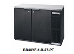 "Beverage Air BB72YF-1-B-27-PT 72"" (3) Section Bar Refrigerator - Swinging Solid Doors, 115v"