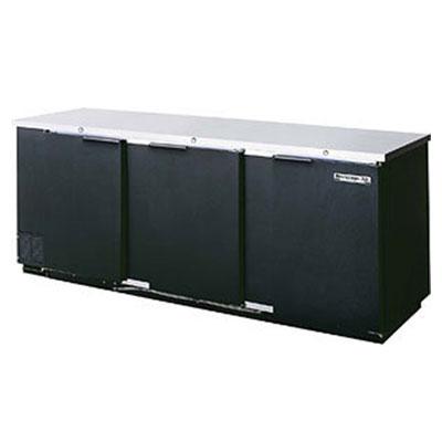 "Beverage Air BB78F-1-B 78"" (3) Section Bar Refrigerator - Swinging Solid Doors, 115v"