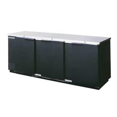 "Beverage Air BB94-1-B 94"" (3) Section Bar Refrigerator - Swinging Solid Doors, 115v"