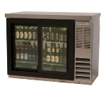 "Beverage Air BB48GSY-1-S-PT 48"" (2) Section Bar Refrigerator - Sliding Glass Doors, 115v"