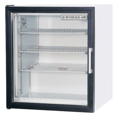 "Beverage Air CF3-1-W 23"" One-Section Display Freezer w/ Swinging Door - Rear Mount Compressor, 115v"