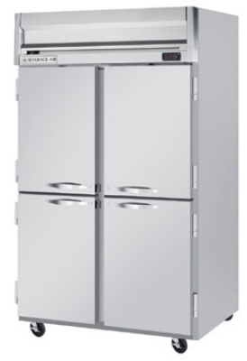 "Beverage Air HR2-1HS 52"" Two Section Reach-In Refrigerator, (4) Solid Door, 115v"