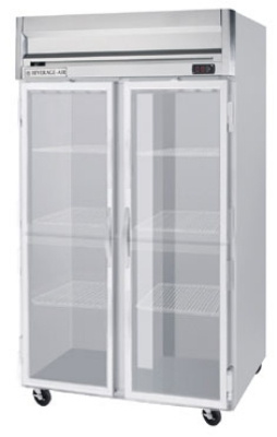 "Beverage Air HR2-1G 52"" Two Section Reach-In Refrigerator, (2) Glass Door, 115v"